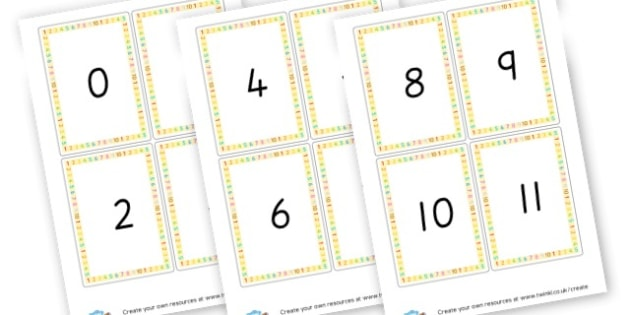 Number cards 0 - 20 - Numeracy Primary Resources, Numeracy, maths, numbers, counting