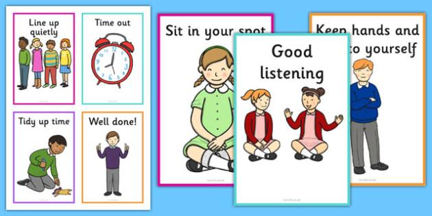 Behaviour Prompt Cards - behaviour, prompt, cards, behaviour prompt