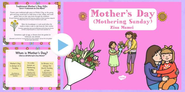 Mother's Day Presentation Romanian Translation - romanian, mothers day, presentation, assembly, powerpoint