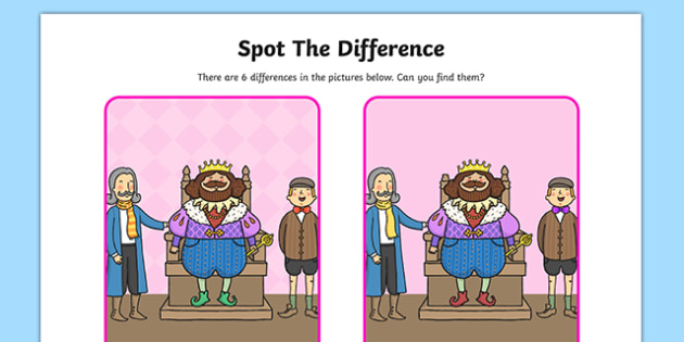 The Emperors New Clothes Spot the Difference Activity - clothes
