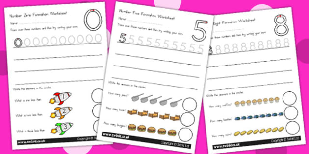 Number Formation Workbook Standard Version - number formation