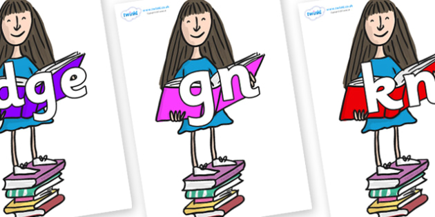 Silent Letters on Matilda to Support Teaching on Matilda - Silent Letters, silent letter, letter blend, consonant, consonants, digraph, trigraph, A-Z letters, literacy, alphabet, letters, alternative sounds