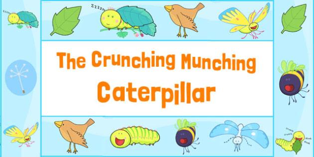 Display Borders to Support Teaching on The Crunching Munching Caterpillar - border