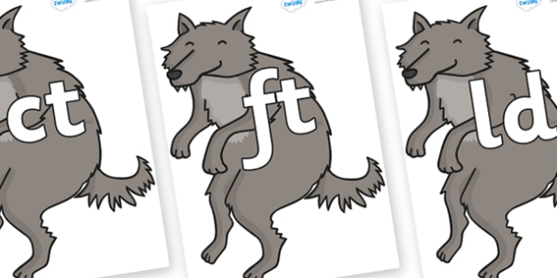 Final Letter Blends on Wolf - Final Letters, final letter, letter blend, letter blends, consonant, consonants, digraph, trigraph, literacy, alphabet, letters, foundation stage literacy