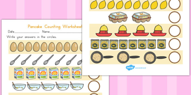 Pancake Counting Sheet - australia, pancake, counting, sheet