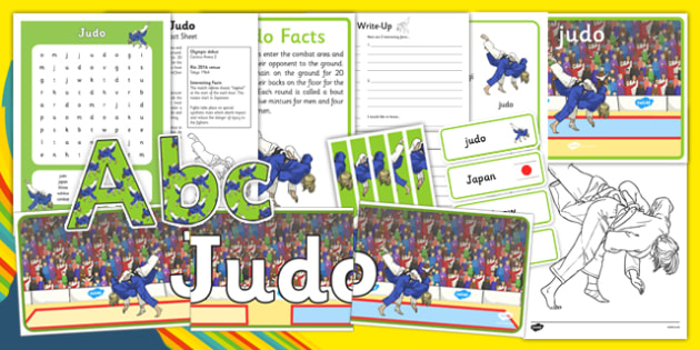 Rio 2016 Olympics Judo Resource Pack - Judo, Olympics, Olympic Games, sports, Olympic, London, 2012, resource pack, pack resources, activity, Olympic torch, events, flag, countries, medal, Olympic Rings, mascots, flame, compete