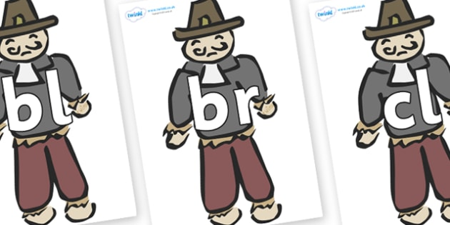 Initial Letter Blends on Guy Fawkes - Initial Letters, initial letter, letter blend, letter blends, consonant, consonants, digraph, trigraph, literacy, alphabet, letters, foundation stage literacy
