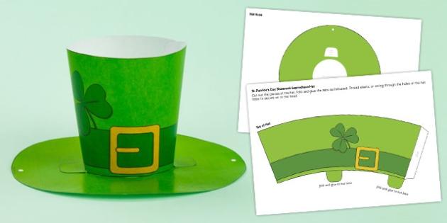 St. Patrick's Day Shamrock Hat - st patrick, shamrock hat, hat