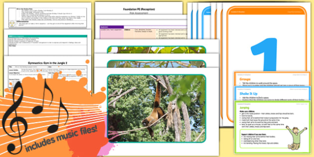 Foundation PE (Reception) - Gymnastics - Gym in the Jungle Lesson Pack 2: Mirror That Monkey - EYFS, PE, Physical Development, Planning