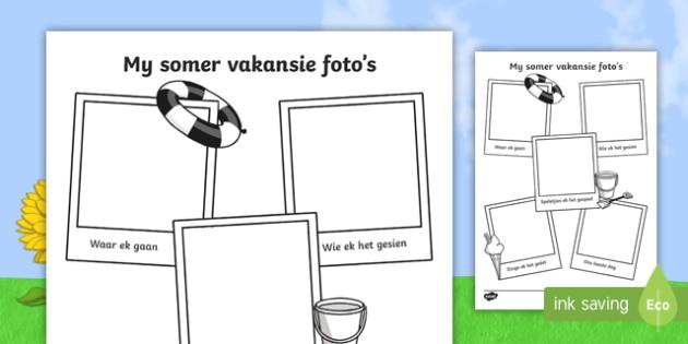 Somer vakansie foto's skrifraam - Somer vakansie foto's skrifraam, skrifraam, somer, vakansie, begin van die jaar, klaskamer.
