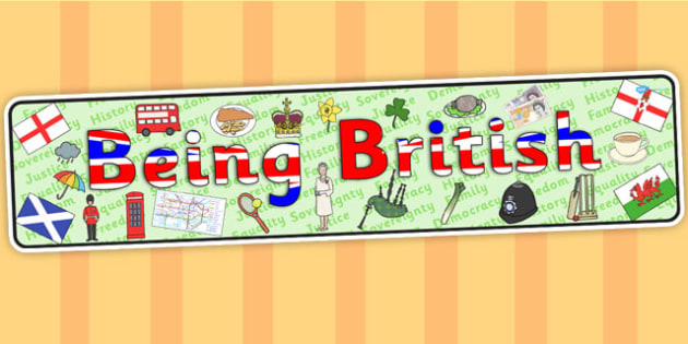 Being British Display Banner - britain, header, display, UK