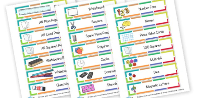 Classroom Labels - Drawer & Peg Name Labels Primary Resources, Name Label, Label, Peg