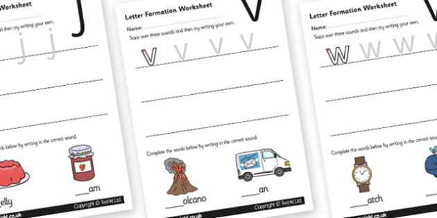 Letter Formation Worksheets (Phase 3) - Handwriting, letter formation, writing practice, Phase 3, Phase three, foundation, letters, writing, learning to write, DFES letters and sounds