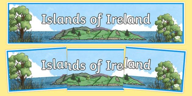 Islands of Ireland Display Banner-Irish