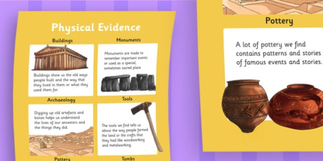 History Physical Evidence Large Display Poster - history, poster