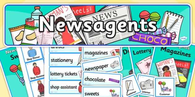 News Agents Role Play Pack-news agents, role play, pack, role play pack, news agents pack, role play materials, activities, games, news
