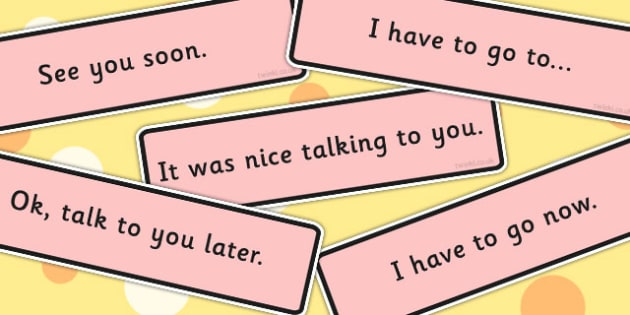 Conversation Endings Cards - conversation aid, visual aid, support, SEN