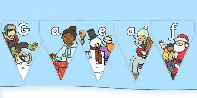 Welsh Winter Bunting - welsh, winter, bunting, display, season, language