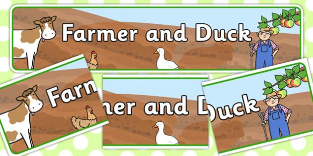 Farmer and Duck Display Banner - farmer duck, display banner, farmer duck banner, display, banner, banner for display, header, display header, header for display
