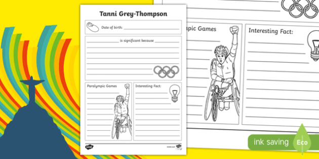 Famous Welsh Women Tanni Grey Thompson Writing Frame - welsh, cymraeg, Tanni Grey-Thompson, Paralympian, Medals, Writing frame