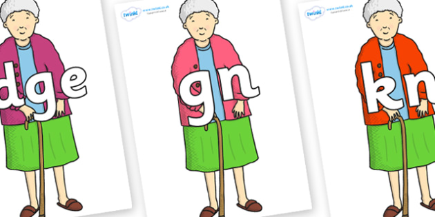 Silent Letters on Harry's Nan to Support Teaching on Harry and the Bucketful of Dinosaurs - Silent Letters, silent letter, letter blend, consonant, consonants, digraph, trigraph, A-Z letters, literacy, alphabet, letters, alternative sounds