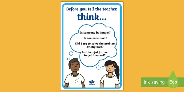Before you tell the teacher... Display Poster - New Zealand Back to School, telling, poster, display