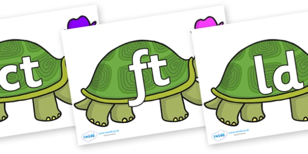 Final Letter Blends on Tortoise - Final Letters, final letter, letter blend, letter blends, consonant, consonants, digraph, trigraph, literacy, alphabet, letters, foundation stage literacy