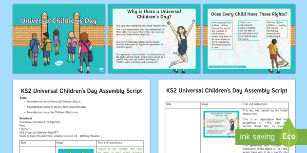 KS2 Universal Children's Day November 20th Assembly Pack