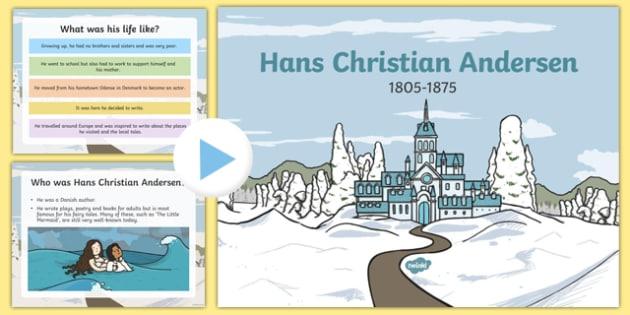 Hans Christian Anderson Information PowerPoint Presentation