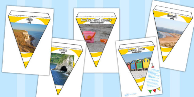 Polish Translation Seaside Photo Display Bunting - polish, seaside