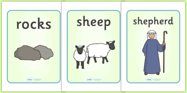 The Lost Sheep Display Posters - education, home school, child development, children activities, free, kids, worksheets, how to write, literacy
