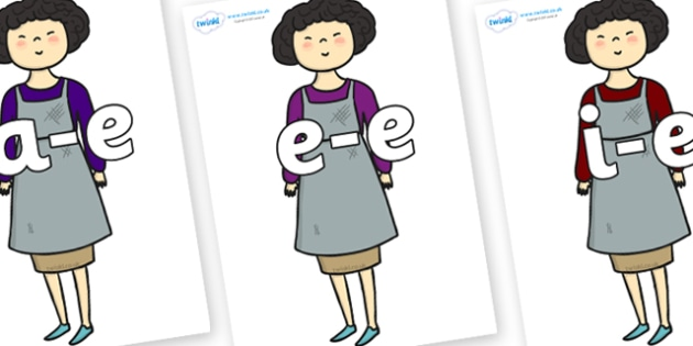 Modifying E Letters on Aladdins Mother - Modifying E, letters, modify, Phase 5, Phase five, alternative spellings for phonemes, DfES letters and Sounds