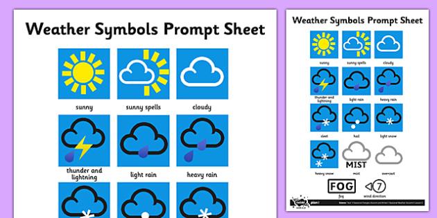 weather symbols activity sheet weather weather symbols. Black Bedroom Furniture Sets. Home Design Ideas