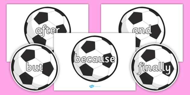 Conjunctions on Footballs - conjunctions, connectives, football