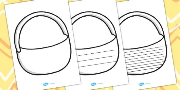 Draw And Write Picnic Basket Writing Frames - writing aid, write