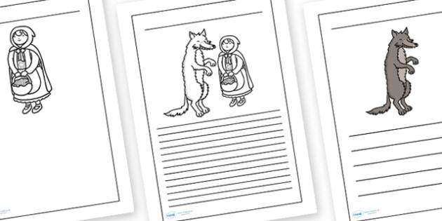 Little Red Riding Hood Writing Frames - writing frame, frame, writing, writing aid, little red riding hood, little red, red riding hood writing frames, red riding hood prompt, writing template, template, literacy, literacy, writing