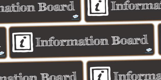 Information Board Display Banner - information board, display banner, banner, header, banner display, display header, header for display, classroom display