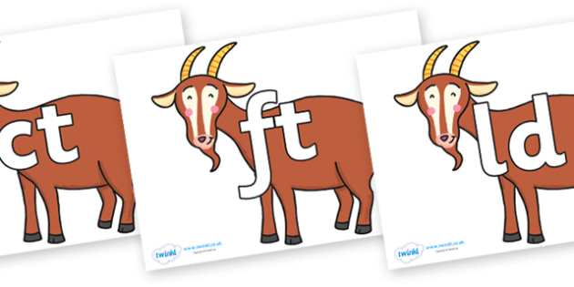 Final Letter Blends on Hullabaloo Goat to Support Teaching on Farmyard Hullabaloo - Final Letters, final letter, letter blend, letter blends, consonant, consonants, digraph, trigraph, literacy, alphabet, letters, foundation stage literacy