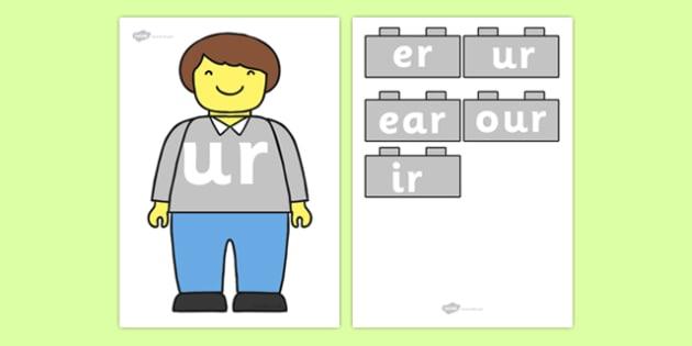 Lego Man ur Sound Family Cut Outs - toys, sounds