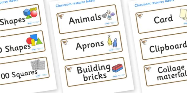 Wren Themed Editable Classroom Resource Labels - Themed Label template, Resource Label, Name Labels, Editable Labels, Drawer Labels, KS1 Labels, Foundation Labels, Foundation Stage Labels, Teaching Labels, Resource Labels, Tray Labels, Printable labe