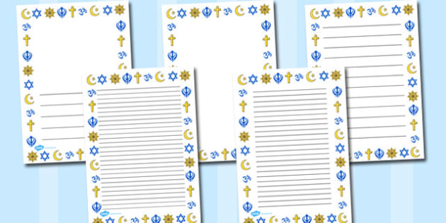 World Religions Page Borders - world, religions, page borders