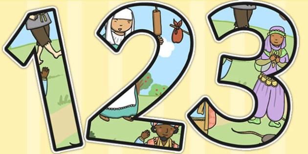 Dick Whittington Themed Display Numbers - number, displays, tales