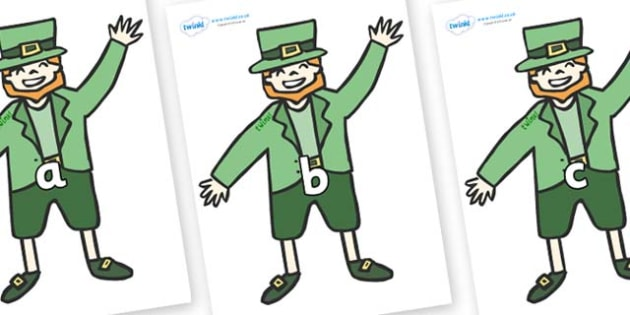 Phase 2 Phonemes on Leprechauns - Phonemes, phoneme, Phase 2, Phase two, Foundation, Literacy, Letters and Sounds, DfES, display
