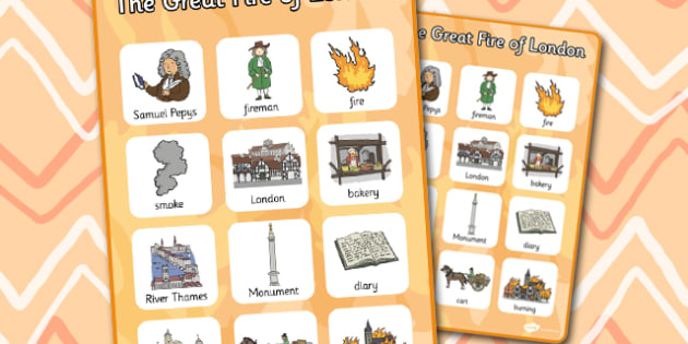 The Great Fire of London Vocabulary Poster - London, vocabulary