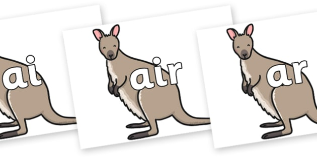 Phase 3 Phonemes on Wallaby - Phonemes, phoneme, Phase 3, Phase three, Foundation, Literacy, Letters and Sounds, DfES, display