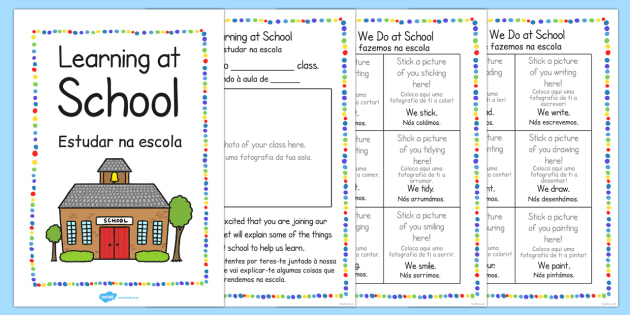New Starter Welcome to Your New School Booklet Portuguese Translation