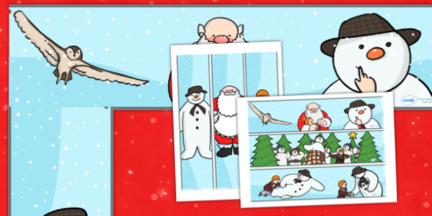 Display Border to Support Teaching on The Snowman - display, dispaly border, border, the snowman, snowman resources, snowman borders, snowman display, story, story book, snowman story, classroom display border, border for a display, edging, display e