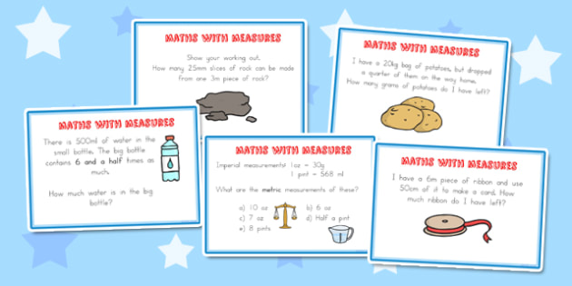 Maths Measure Problems Challenge Cards - australia, maths, measure