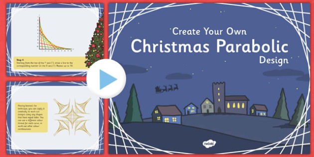 Christmas Parabolic Designs PowerPoint - christmas, parabolic, parabol, designs, powerpoint