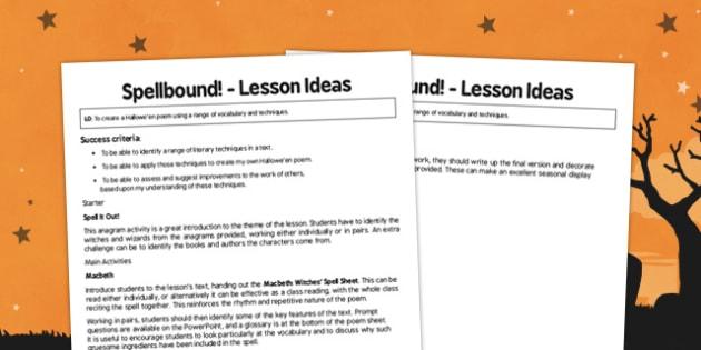 Spellbound Lesson Ideas - spellbound, lesson ideas, lesson, ideas, ks3